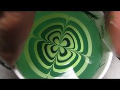 So easy to do! Four Leaf Clover Water Marble Nail Art Tutorial (Water Marble March #6)