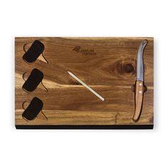 Carolina Panthers Acacia Cheese Board & Tool Set