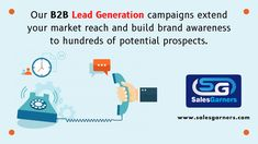 Our B2B lead generation campaigns extend your market reach and build brand awareness to hundreds of potential prospects. Know more: salesgarners.com #SalesGarners #Leadgeneration #marketing #marketingstrategy #Telemarketing #DigitalMarketing #businessgrowth #Business