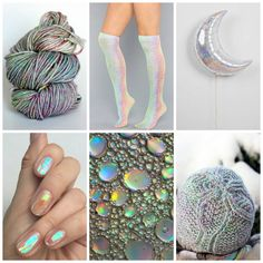 Mood board Monday - Crystal from Tanis Fiber Arts. January 2017 TFA Year In Colour Club colourway.