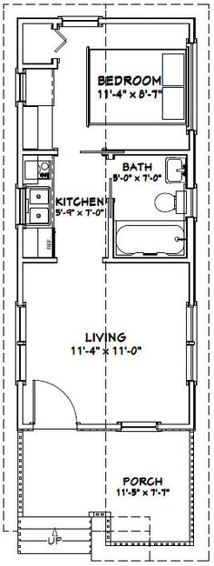 12x28 Tiny House -- #12X28H1B -- 336 sq ft - Excellent Floor Plans