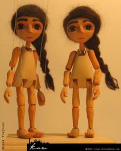 Marionettes for movie, pictures showing how it´s made
