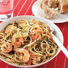 You can whip up a delicious and healthy dinner for your family in no time with this Shrimp Scampi over Whole-Wheat Spaghetti.