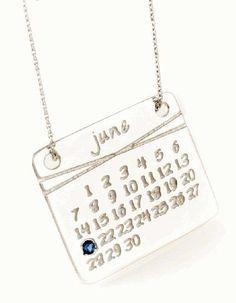 Save the Date Calendar Necklace! $150