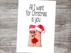 Not your ordinary Christmas Card, but isn't that what you are looking for? Hey, the perfect card for a Christmas proposal!! Checkout all our unique cards by Lena B Designs on Etsy!