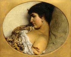 Sir Lawrence Alma-Tadema, Cleopatra (1875)  on ArtStack #sir-lawrence-alma-tadema #art