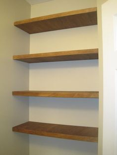 building shelves into wall