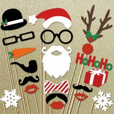 Christmas Photo Booth Props - so fun for a family holiday party!