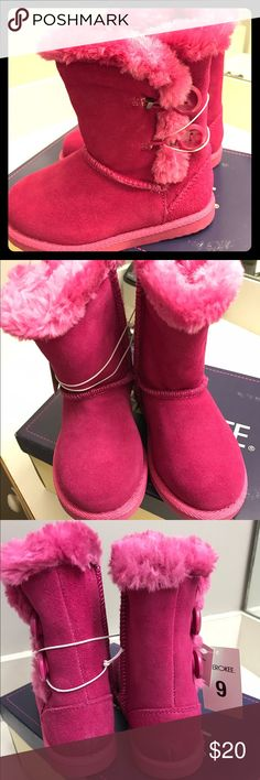 Girl's Pink winter boots New! With tags and box Cherokee Shoes Boots