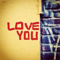 Right back atcha. #streetart #graffiti #urbanart #lovenote #manhattan #newyorkcharm #nyc #eastvillage #les #loveyou #wallconfessions