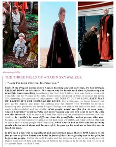 Anakin's Fall part 1 - I like this, except I hate Ben Solo. Force Awakens was awful Anakin Vader, Anakin And Padme, Anakin Skywalker, Darth Vader, Starwars, The Force Is Strong, Love Stars, Clone Wars, Movies Showing
