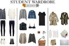 as if i needed another excuse to buy clothes Uni Fashion, Student Fashion, Minimal Fashion, Fashion Outfits, Staple Wardrobe Pieces, Wardrobe Basics, Capsule Wardrobe, College Outfits, School Outfits