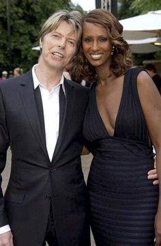 David Bowie and Wife Iman  LOVELY PHOTO!!!