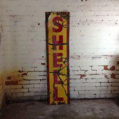 Vintage Shell enamel sign