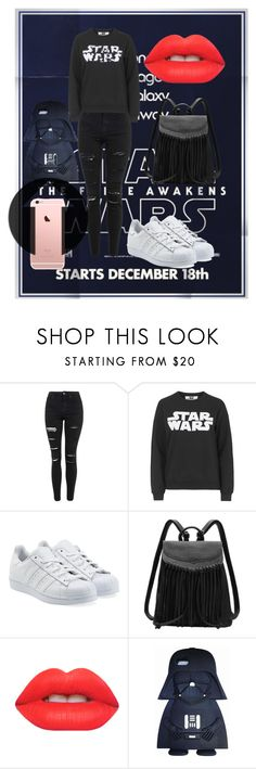 """Especial Star Wars"" by sofipalacio on Polyvore featuring moda, Topshop, Tee and Cake, adidas Originals y Lime Crime"