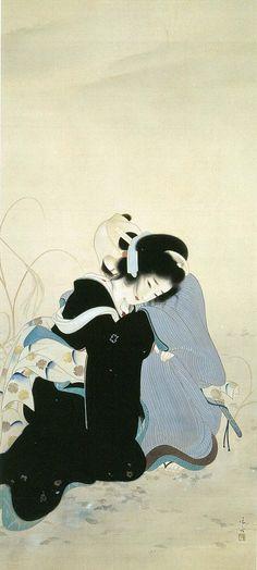 Ryuichi Sakamoto & David Toop at Silver Building (live)Kiyokata Kaburaki (鏑木清方) Japanese Drawings, Japanese Artwork, Japanese Prints, Illustrations, Illustration Art, Japanese Woodcut, Japan Painting, Art Asiatique, Art Japonais
