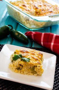Cheesy Green Chile Quinoa Casserole http://www.cookingquinoa.net/cheesy-green-chile-quinoa-casserole - Make Ahead - Freezable