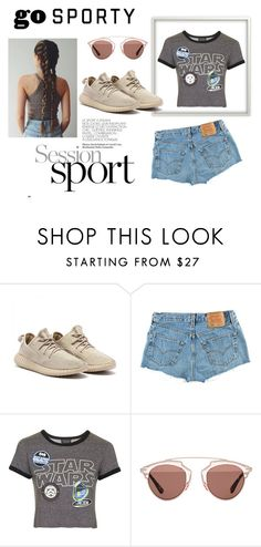"""""""Sporty Style"""" by marianvirtua on Polyvore featuring moda, Levi's, Topshop y Christian Dior"""