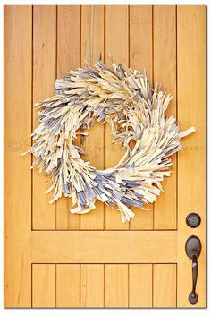 Frayed Corn Husk Wreath @Gina @ Kleinworth & Co.