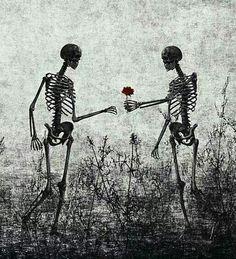 skeleton lovers Art Print by Skeleton Love, Skeleton Art, Dark Love, Skull And Bones, Vanitas, Skull Art, Dark Art, Cool Art, Art Drawings