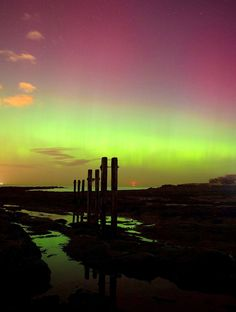 Whitley Bay. | 16 Absolutely Breathtaking Photos Of The Northern Lights Taken In Scotland And The North Of England