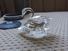 Large Crystal Swarovski Swan Crystal Stones Swan Winged Bird Swarovski Crystal Figurines NR 063 In Original Box Vintage Made in Austria