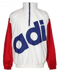 90s Adidas White, Red, & Blue Sport Jacket