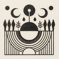 'The Gathering' Print – Real Fun, Wow! Graphic Design Illustration, Illustration Art, Sketch Tattoo Design, Scandinavian Folk Art, Paper Texture, Art Inspo, Creative Art, New Art, Vector Art