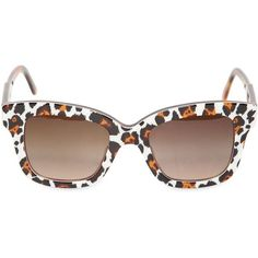 STELLA MCCARTNEY Animal Print Square Acetate Sunglasses - Leopard (815 PLN) found on Polyvore