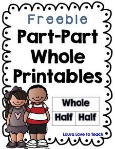 I created 2 free Part Part Whole Worksheets that has the students filling in the missing number and writing down the addition sentence that is asso. Math Classroom, Kindergarten Math, Teaching Math, Teaching Tools, Teaching Ideas, Math Tools, Part Part Whole, Eureka Math, Second Grade Math