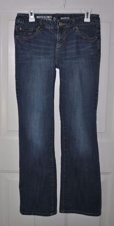 Mossimo Supply Co. Women's Distressed Boot Cut Denim Blue Jeans Size 7 #Mossimo #BootCut