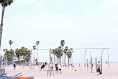 The Original Muscle Beach on a picturesque Santa Monica day!
