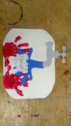 Hygiene and germ activities germ crafts, preschool, health lessons. Body Preschool, Preschool Classroom, Preschool Crafts, Preschool Activities, Kindergarten, Preschool Transitions, Toddler Art, Toddler Crafts, Infant Crafts