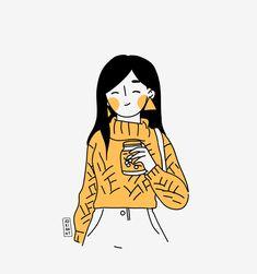Kawaii Drawings, Doodle Drawings, Cartoon Drawings, Cartoon Art, Cute Drawings, People Illustration, Illustration Girl, Character Illustration, Graphic Design Illustration