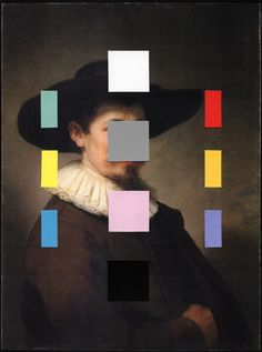 chadwys:  Portrait With A Spectrum 11collage on paper, 2014Chad Wys (web/tumblr/society6)