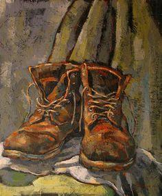 """Artists Boots"" - Original Fine Art for Sale - © Katya Minkina"