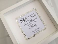 Personalised Wedding Sign Our handcrafted personalised wedding box frame is the perfect gift anyone would be delighted to receive Beautiful timeless Box Frame Ideas Diy Crafts, Diy Crafts For Girls, Craft Ideas, Wedding Poems, Wedding Signs, Wedding Cards, Gift Table Wedding, Craft Wedding, Diy Shadow Box