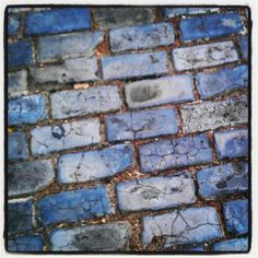 // Blue brick streets of Old San Juan