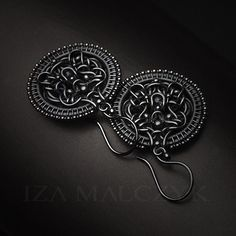 Black Dahlia earrings by Iza Malczyk: http://www.izamalczyk.com/en/gallery-551-4011,2.html