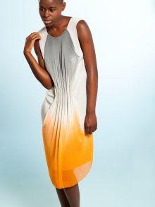 Pleated Chiffon Dress   NOT JUST A LABEL