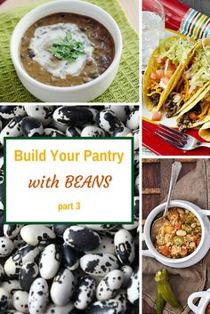 All you need to know about dried beans. Which ones to make sure are in your pantry at all times, how to cook them and recipes to use them!