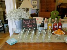 Bellini Bar- 'pick your fruit and your brut.' So cute!