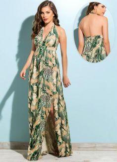 Gostei deste produto do Portal Posthaus! Vestido Longo com Fenda