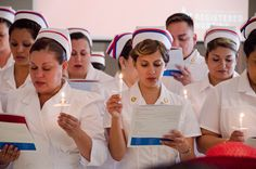 A nursing class from 2013....kinda nice to see new graduates in caps during the graduation and pinning ceremony....