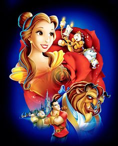 Disney Fairy Tale Beauty and The Beast Image High Quality Print on Canvas 24X30 | eBay