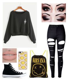 Untitled #388 by saraxx113 on Polyvore featuring polyvore, WithChic, Converse, Casetify, fashion, style and clothing