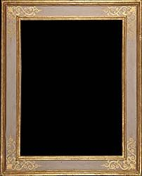 Renaissance antique picture frame grey painted and gilded - Tuscany 17th century