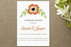 Precious Poppy Bridal Shower Invitations