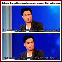 John Galecki being a legend, gay, rumors, not offensive