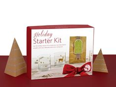 The holiday starter kit has everything you need to create custom holiday projects with your Silhouette, including vinyl, sketch pens, and 15 exclusive holiday-themed designs you'll love. Now 40% off with code HOLIDAY until Dec. 31, 2014!